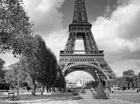 JCANGELCRAFT PARIS IMAGES Paris Eyfel Kulesi Siyah Beyaz Dünyaca Ünlü Şehirler Kanvas Tablo