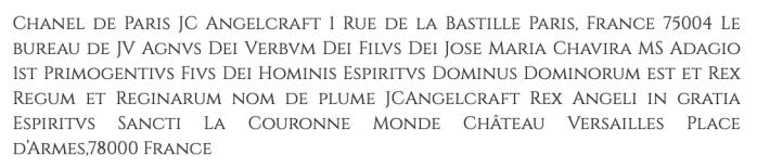 Chanel de Paris JC Angelcraft 1 rue de la Bastille Cinzel